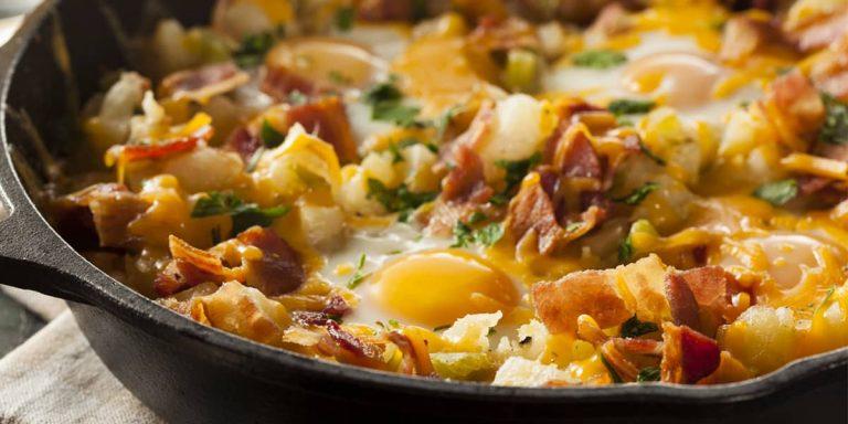 Wild Bacon, Potato and Egg Breakfast Skillet
