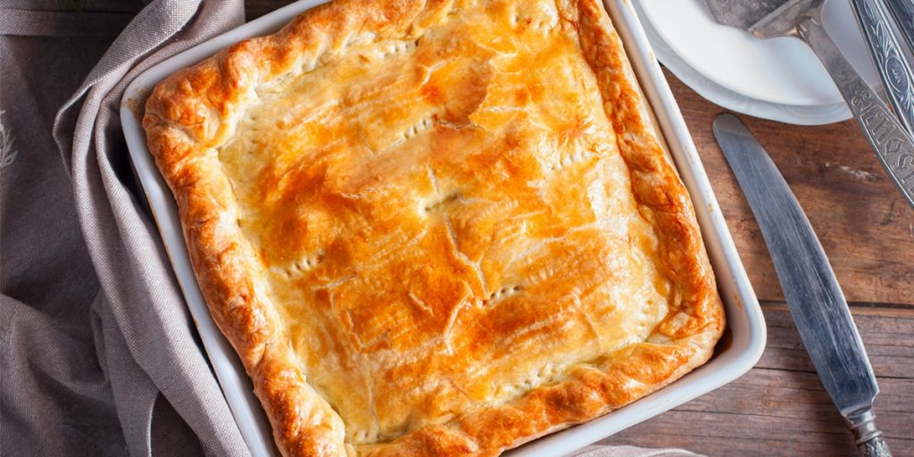 Wild Pork, Apple & Garlic Pie